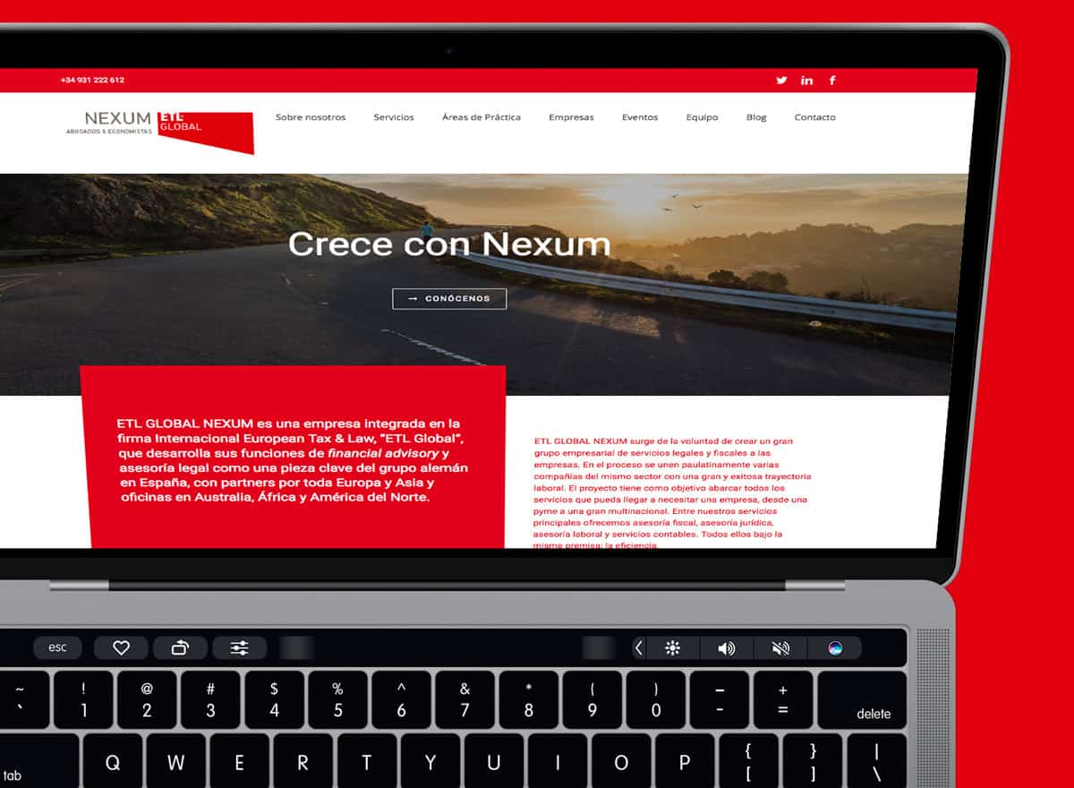 Nexum | Web corporativa | novva_ marketing