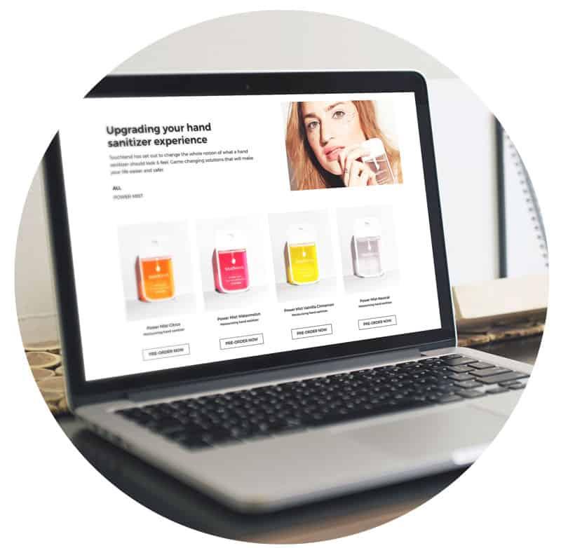 Touchland   Maquetación Web   novva_ marketing