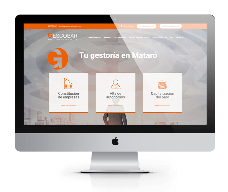 Gescobar | Web corporativa | novva_ marketing